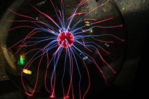 Électricité, Boule De Verre, Couleurs, Champ Magnétique